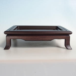 Drewniany stół pod bonsai brązowy 32 x 25 x 9 cm