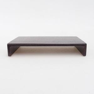 Drewniany stół pod bonsai brązowy 17 x 11 x 3 cm