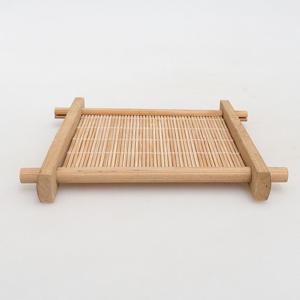 Drewniany stół pod bonsai brązowy 12,5 x 12,5 x 1,5 cm