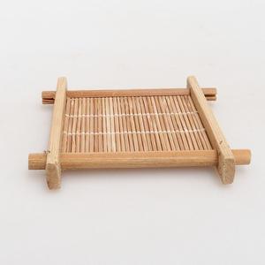 Drewniany stół pod bonsai brązowy 8,5 x 8,5 x 1,3 cm
