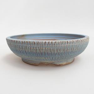 Ceramiczna miska bonsai 18,8 x 18,5 x 5,5 cm, kolor niebiesko-żółty