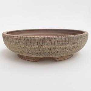Ceramiczna miska bonsai 19,5 x 19,5 x 5,5 cm, kolor brązowo-zielony