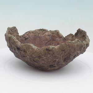 Keramická Skořápka 13 x 13 x 6 cm , barva  hnědozelená