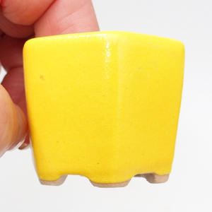 Mini miska bonsai 4 x 4 x 3,5 cm, kolor żółty
