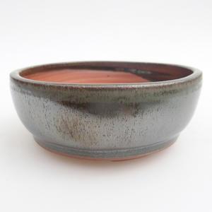 Ceramiczna miska bonsai 11 x 11 x 4,5 cm, kolor zielony