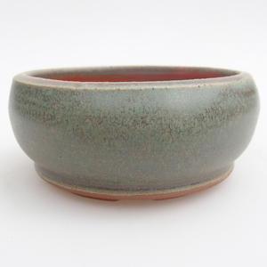 Ceramiczna miska bonsai 10 x 10 x 4,5 cm, kolor zielony