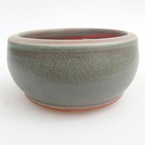 Ceramiczna miska bonsai 10 x 10 x 5 cm, kolor zielony