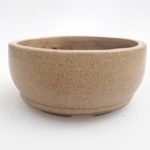 Ceramiczna miska bonsai 10 x 10 x 4,5 cm, kolor beżowy