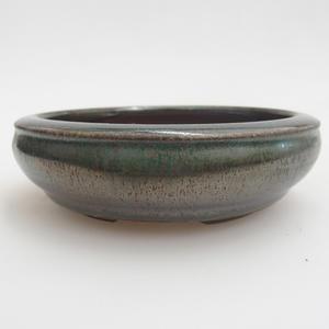 Ceramiczna miska bonsai 11 x 11 x 3 cm, kolor zielony