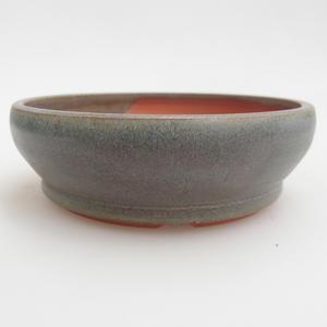 Ceramiczna miska bonsai 11,5 x 11,5 x 3,5 cm, kolor zielony