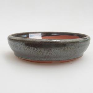 Ceramiczna miska bonsai 10 x 10 x 2,5 cm, kolor zielony
