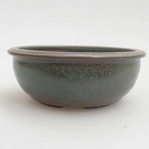 Ceramiczna miska bonsai 10 x 10 x 4 cm, kolor zielony