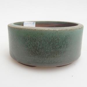 Ceramiczna miska bonsai 8,5 x 8,5 x 4 cm, kolor zielony