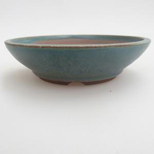 Ceramiczna miska bonsai 12 x 12 x 3,5 cm, kolor zielony