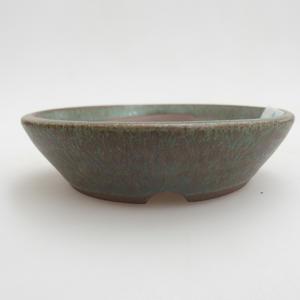 Ceramiczna miska bonsai 9 x 9 x 2 cm, kolor zielony