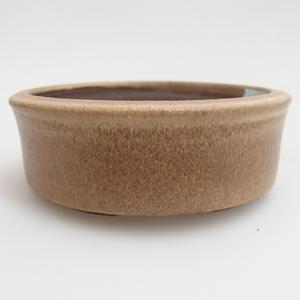 Ceramiczna miska bonsai 11 x 11 x 4 cm, kolor beżowy