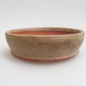 Ceramiczna miska bonsai 11 x 11 x 3 cm, kolor beżowy