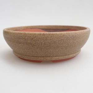 Ceramiczna miska bonsai 10 x 10 x 3 cm, kolor beżowy