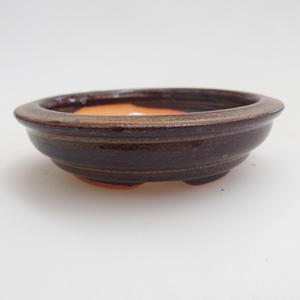 Ceramiczna miska bonsai 8 x 8 x 2 cm, kolor brązowy