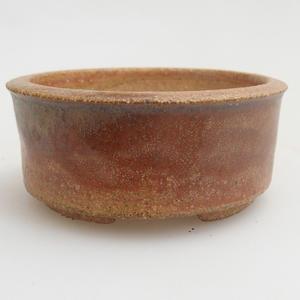 Ceramiczna miska bonsai 6,5 x 6,5 x 3 cm, kolor czerwony