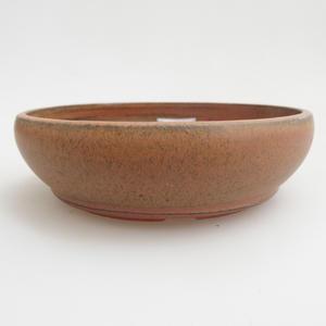 Ceramiczna miska bonsai 12 x 12 x 3 cm, kolor czerwony