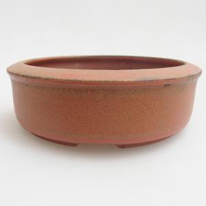 Ceramiczna miska bonsai 12 x 12 x 4 cm, kolor czerwony