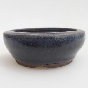 Ceramiczna miska bonsai 8 x 8 x 3 cm, kolor niebieski