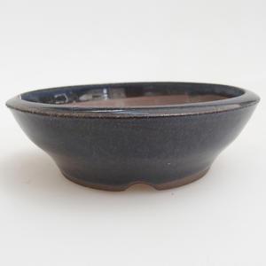 Ceramiczna miska bonsai 10 x 10 x 3 cm, kolor niebieski