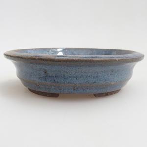 Ceramiczna miska bonsai 11,5 x 11,5 x 3 cm, kolor niebieski