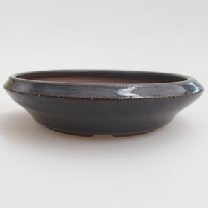 Ceramiczna miska bonsai 11 x 11 x 2,5 cm, kolor niebieski