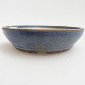 Ceramiczna miska bonsai 12 x 12 x 3 cm, kolor niebieski