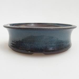 Ceramiczna miska bonsai 13 x 13 x 4 cm, kolor niebieski