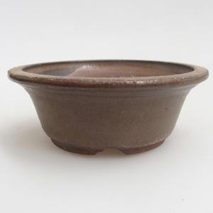 Ceramiczna miska bonsai 11 x 11 x 4 cm, kolor brązowy