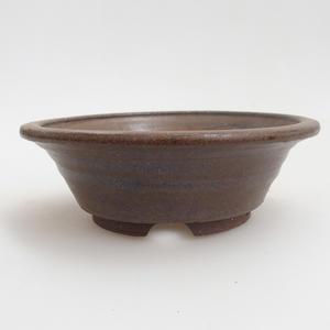 Ceramiczna miska bonsai 12 x 12 x 4 cm, kolor brązowy