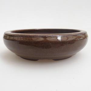 Ceramiczna miska bonsai 11,5 x 11,5 x 3,5 cm, kolor brązowy