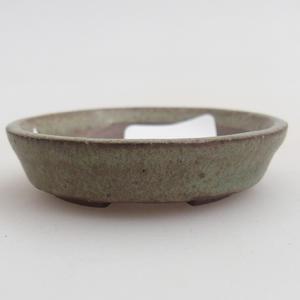 Ceramiczna miska bonsai 4,5 x 4,5 x 1,5 cm, kolor zielony