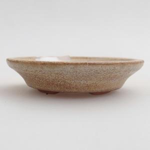 Ceramiczna miska bonsai 6,5 x 6,5 x 1,5 cm, kolor beżowy