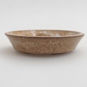 Ceramiczna miska bonsai 5,5 x 5,5 x 1 cm, kolor beżowy