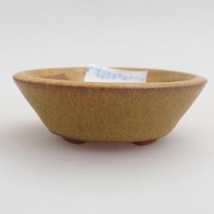 Ceramiczna miska bonsai 5,5 x 5,5 x 1,5 cm, kolor żółty