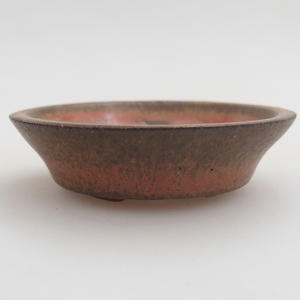 Ceramiczna miska bonsai 6 x 6 x 1,5 cm, kolor czerwony