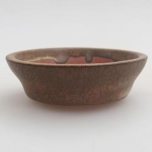 Ceramiczna miska bonsai 6 x 6 x 1,5 cm, kolor brązowy