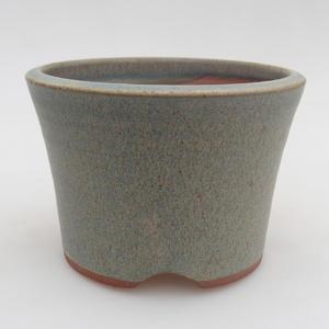Ceramiczna miska bonsai 10,5 x 10,5 x 7,5 cm, kolor niebieski