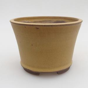 Ceramiczna miska bonsai 11 x 11 x 8 cm, kolor żółty