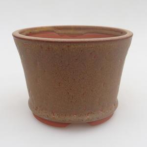 Ceramiczna miska bonsai 11,5 x 11,5 x 8 cm, kolor brązowy