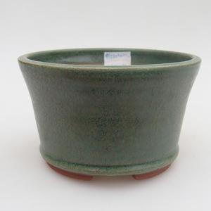 Ceramiczna miska bonsai 12 x 12 x 7,5 cm, kolor zielony