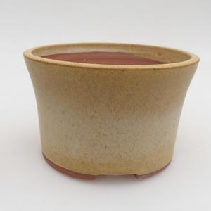 Ceramiczna miska bonsai 13 x 13 x 8 cm, kolor żółty