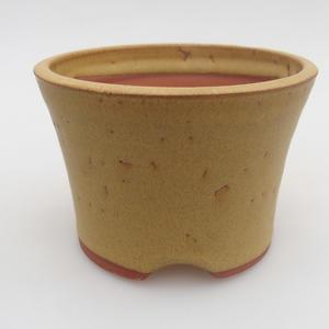 Ceramiczna miska bonsai 10 x 10 x 7 cm, kolor żółty