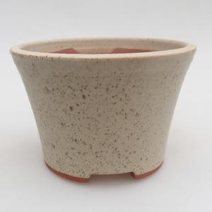 Ceramiczna miska bonsai 11 x 11 x 7,5 cm, kolor beżowy