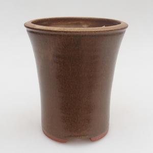 Ceramiczna miska bonsai 10 x 10 x 12,5 cm, kolor brązowy