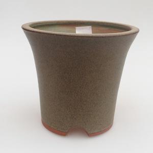 Ceramiczna miska bonsai 13 x 13 x 12 cm, kolor szary